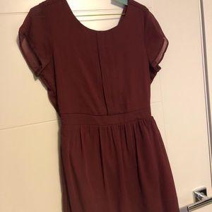 Maroon Dress